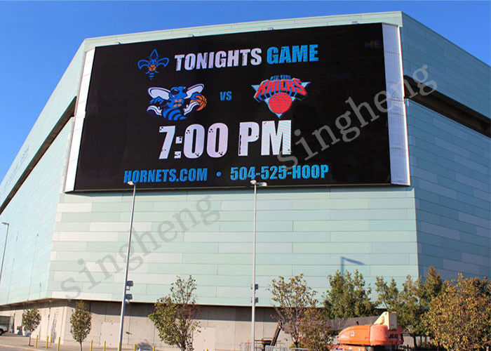 Full Color P10 Outdoor LED Advertising Screens 140 / 120 Degree View Angle